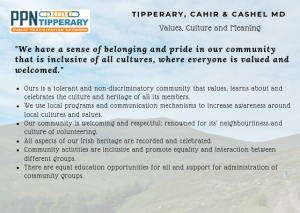 Values, Culture and Meaning Vision - We have a sense of belonging and pride in our community that is inclusive of all cultures, where everyone is valued and welcomed.